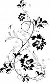 Abstract floral vector illustration for using as a background poster