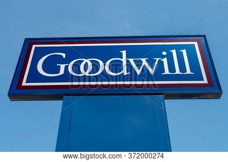 Goodwill Retail Exterior Sign And Trademark Logo