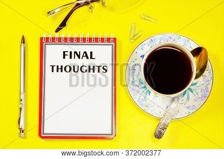 The Final Thought Is The Result Of Reflection, An Idea. Cognitive Activity, Generalization Of The Re