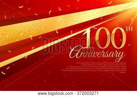 100th Anniversary Celebration Card Template Vector Design Illustration