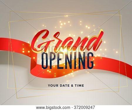 Grand Opening Celebration Flyer Greeting Background Vector Design Illustration