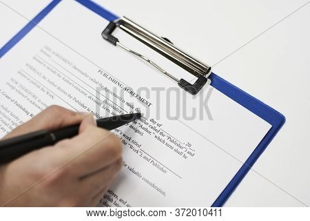 Filling And Signing Publishing Agreement Document Sample