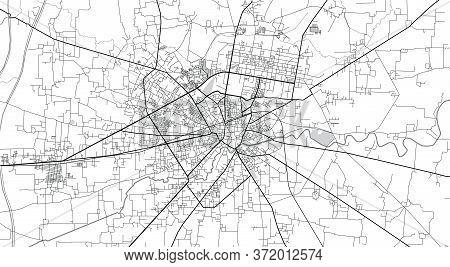 Urban Vector City Map Of Siakot, Pakistan, Asia.