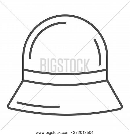 Panama Hat Thin Line Icon, Summer Accessories Concept, Summer Children Cap Sign On White Background,