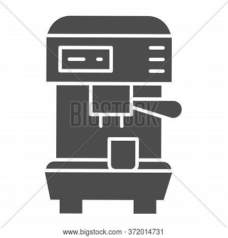Coffee Machine Solid Icon, Household Appliances Concept, Electric Appliance For Making Coffee Sign O