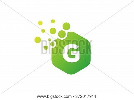 Letter G Hexagon Bubbles Vector. G Letter Logo Design Vector With Dots And Colorful Hexagon.