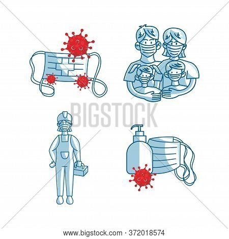 Mask Protection Health Care Illustration Vector Cartoon