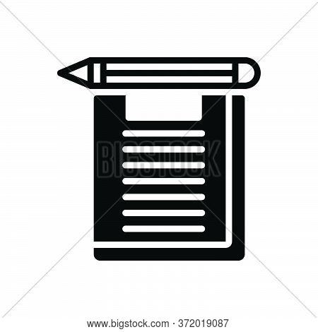 Black Solid Icon For Exam Examination Test Inquiry Analysis