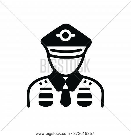 Black Solid Icon For Military Soldier  Army Fighter-man Person Commando
