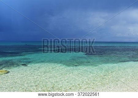 Beautiful Sandy Beach With Turquoise Sea./ Amazing Colorful Clean Sea/ Tropical Island/ Crystal Clea
