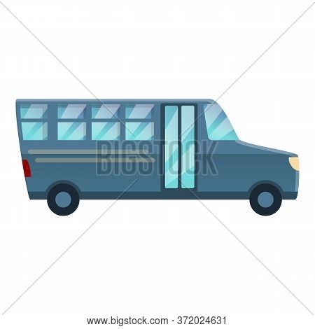 Prison Truck Icon. Cartoon Of Prison Truck Vector Icon For Web Design Isolated On White Background