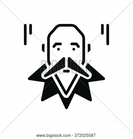 Black Solid Icon For Cervantes Philosophers Kafka Writers Socrates Author