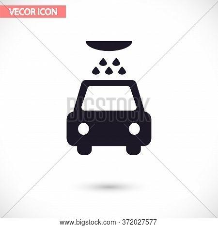 Car Wash Vector Icon , Lorem Ipsum Flat Design