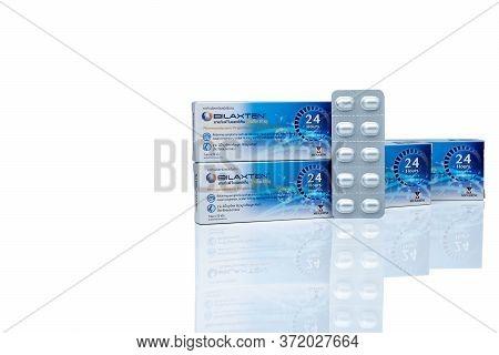 Chonburi, Thailand-may 24, 2020 : ฺbilaxten Tablets Pills In Aluminium Foil Blister Pack. Bilastine