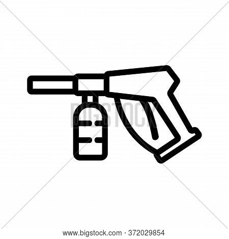 Pressure Washing Equipment Icon Vector. Pressure Washing Equipment Sign. Isolated Contour Symbol Ill