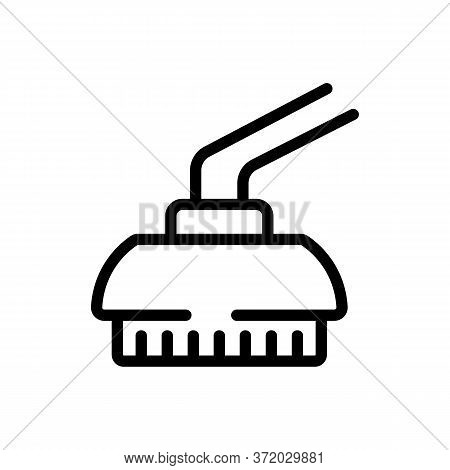 Pressure Washer Brush Icon Vector. Pressure Washer Brush Sign. Isolated Contour Symbol Illustration