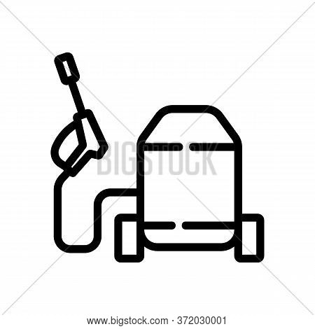 Pressure Washer Electronic Device Icon Vector. Pressure Washer Electronic Device Sign. Isolated Cont