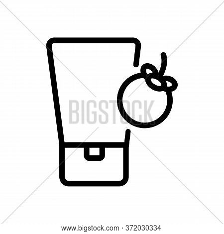 Mangosteen Cosmetic Cream Tube Icon Vector. Mangosteen Cosmetic Cream Tube Sign. Isolated Contour Sy