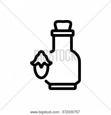 Jojoba Elixir Flask Icon Vector. Jojoba Elixir Flask Sign. Isolated Contour Symbol Illustration