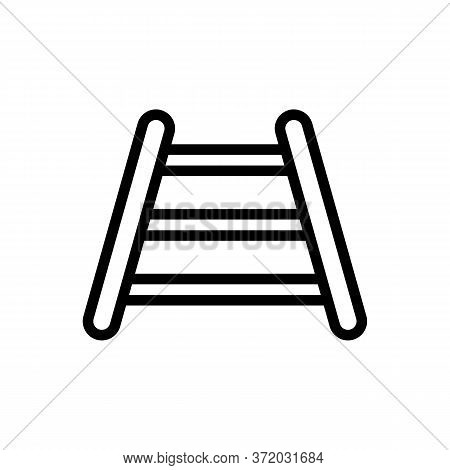 Dog Training Stairs Icon Vector. Dog Training Stairs Sign. Isolated Contour Symbol Illustration