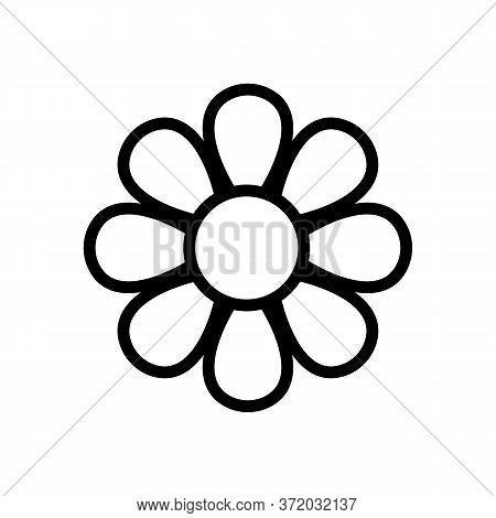 Chamomile Blooming Bud Icon Vector. Chamomile Blooming Bud Sign. Isolated Contour Symbol Illustratio