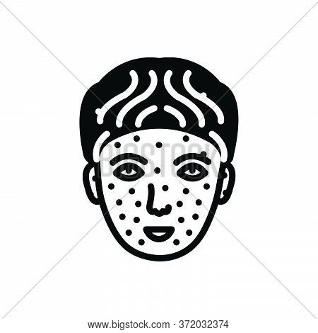 Black Solid Icon For Chickenpox Medical Disease Illness Sickness
