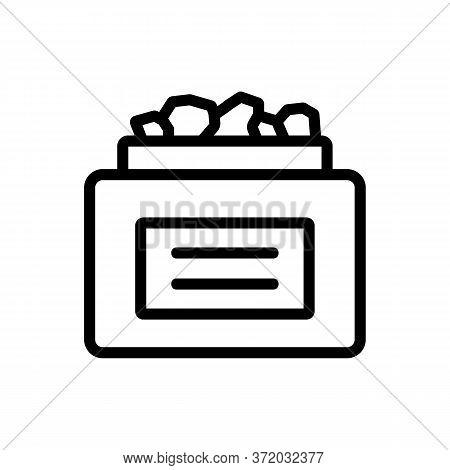 Anti Cellulite Medicine Serum Package Icon Vector. Anti Cellulite Medicine Serum Package Sign. Isola
