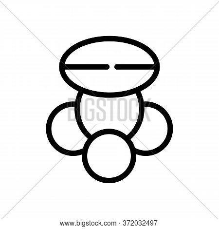 Cellulite Fat Tissue Icon Vector. Cellulite Fat Tissue Sign. Isolated Contour Symbol Illustration