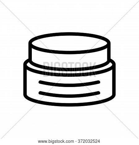 Anti Cellulite Cream Container Icon Vector. Anti Cellulite Cream Container Sign. Isolated Contour Sy