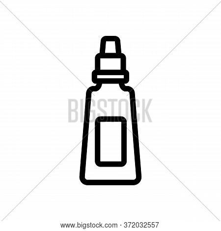 Anti Cellulite Cream Tube Icon Vector. Anti Cellulite Cream Tube Sign. Isolated Contour Symbol Illus
