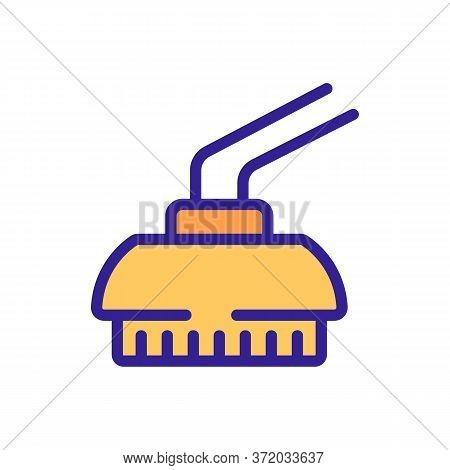 Pressure Washer Brush Icon Vector. Pressure Washer Brush Sign. Color Symbol Illustration