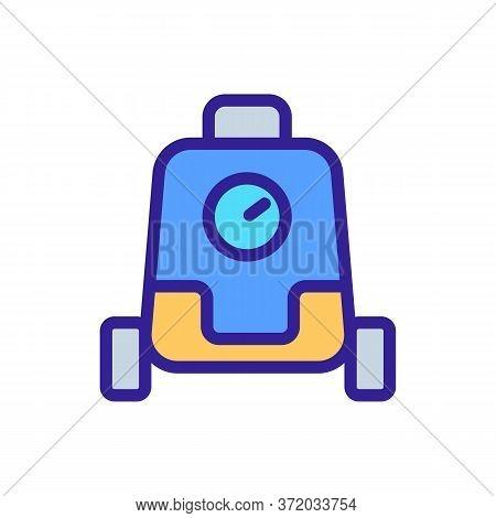 Pressure Washer Cleaner Icon Vector. Pressure Washer Cleaner Sign. Color Symbol Illustration