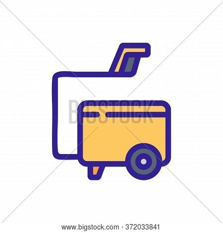 Pressure Washer Vacuum Cleaner Tool Icon Vector. Pressure Washer Vacuum Cleaner Tool Sign. Color Sym