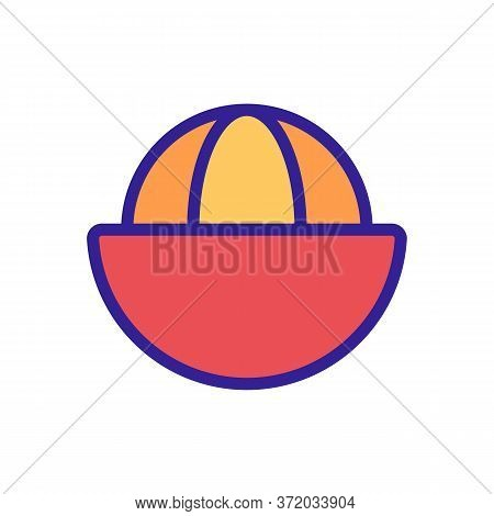 Mangosteen Sliced Citrus Fruit Icon Vector. Mangosteen Sliced Citrus Fruit Sign. Color Symbol Illust
