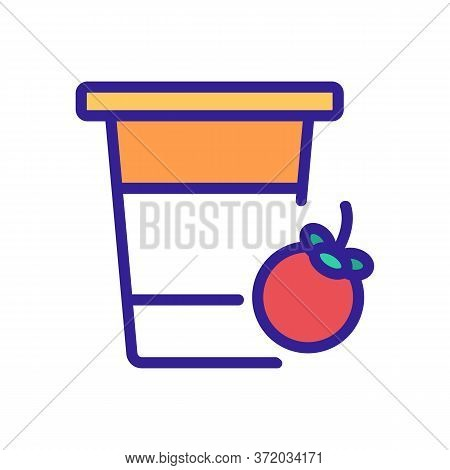 Mangosteen Fruit Drink Cup Icon Vector. Mangosteen Fruit Drink Cup Sign. Color Symbol Illustration