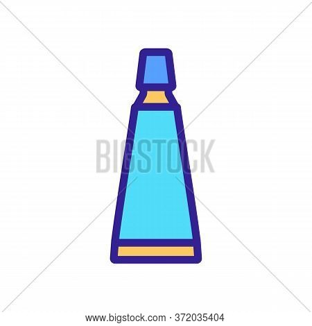 Cellulite Tube Package Icon Vector. Cellulite Tube Package Sign. Color Symbol Illustration