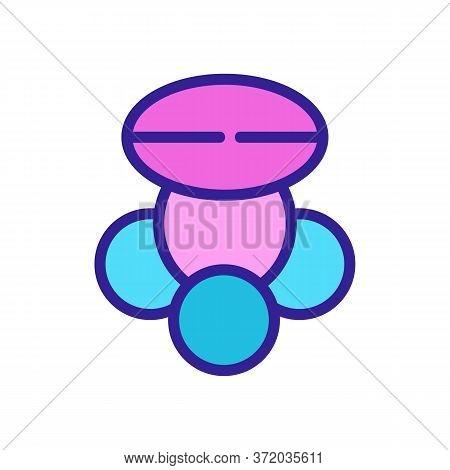Cellulite Fat Tissue Icon Vector. Cellulite Fat Tissue Sign. Color Symbol Illustration