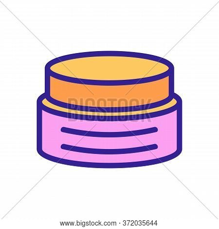 Anti Cellulite Cream Container Icon Vector. Anti Cellulite Cream Container Sign. Color Symbol Illust