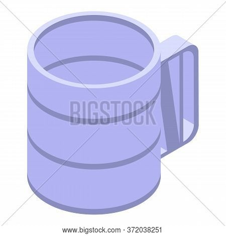 Mug Sieve Icon. Isometric Of Mug Sieve Vector Icon For Web Design Isolated On White Background