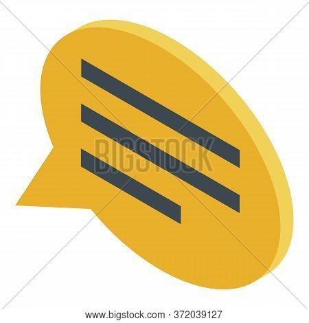 Foreign Language Chat Icon. Isometric Of Foreign Language Chat Vector Icon For Web Design Isolated O