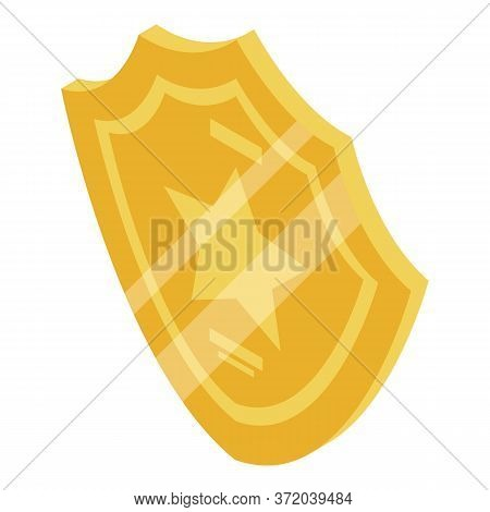 Investigator Gold Badge Icon. Isometric Of Investigator Gold Badge Vector Icon For Web Design Isolat