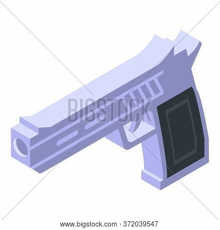 Investigator Pistol Icon. Isometric Of Investigator Pistol Vector Icon For Web Design Isolated On Wh