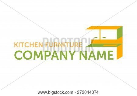 Furniture Logo - Custom Or Factory Kitchen Cabinet Furniture - Creative Isometric Form Of Worktop -
