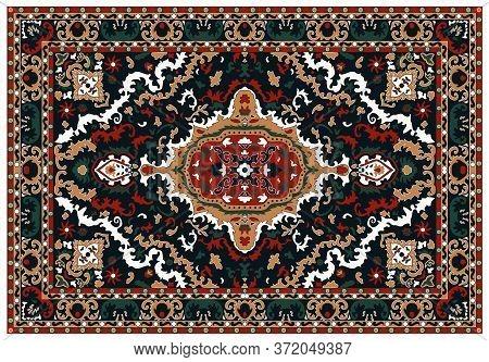 Luxury Indian Rug. Old Turkish Kilim. Vintage Persian Carpet, Tribal Texture. Ethnic Textile. Easy T