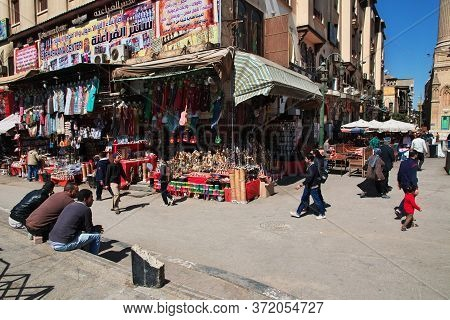 Cairo / Egypt - 05 Mar 2017. The Local Markt On The Old Street Of Arabish Cairo, Egypt