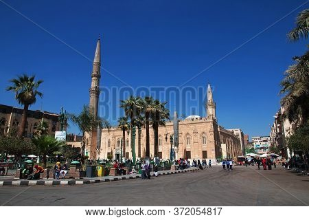 Cairo / Egypt - 05 Mar 2017. The Mosque On The Old Street Of Arabish Cairo, Egypt