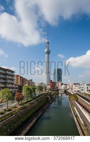 Tokyo - Nov 07 , 2012 : View Of Tokyo Sky Tree (634m) , The Highest Free-standing Structure In Japan