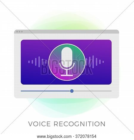 Voice Recognition, Search Speech Detect And Personal Assistant Deep Learning Voice Concept. Micropho