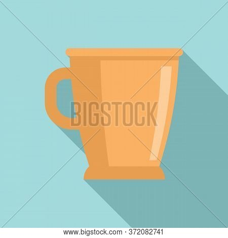 Mexican Handmade Cup Icon. Flat Illustration Of Mexican Handmade Cup Vector Icon For Web Design