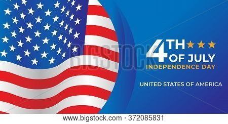 Happy 4th of July. US Independence Day Vector Design Background. 4th of July Happy Independence Day Poster. Fourth of July Independence Day Fourth of July vector background design. USA Independence Day banner background Vector illustration.